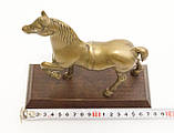 Бронзовая статуэтка, конь, лошадь, бронза, деревянное основание, Англия, фото 6
