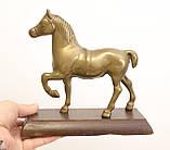 Бронзовая статуэтка, конь, лошадь, бронза, деревянное основание, Англия, фото 7