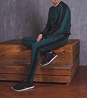Мужской спортивный костюм лампас изумруд, фото 1