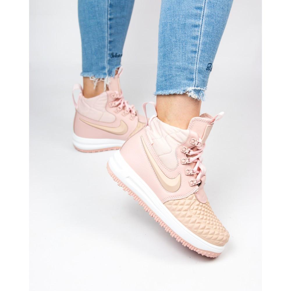 ab23d55e Женские кроссовки Nike Lunar Force 1 Duckboot Pink - Интернет-магазин