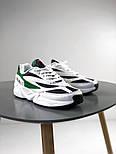 Мужские кроссовки Fila Venom Green/Navy. Натуральная кожа. Живое фото (Реплика ААА+), фото 4