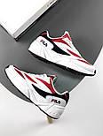Мужские кроссовки Fila Venom white/red. Натуральная кожа. Живое фото (Реплика ААА+), фото 4