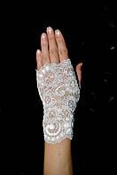 Перчатки митенки кружевные №22