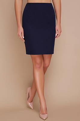 Темно-синяя юбка женская