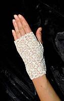Перчатки митенки кружевные №23