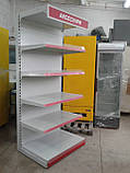 Стеллаж пристенный  торговый Mago бу., фото 3
