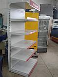 Стеллаж пристенный  торговый Mago бу., фото 4