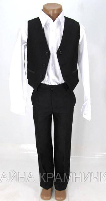 Костюм для хлопчика 2-ка  жилет брюки рр.28-36