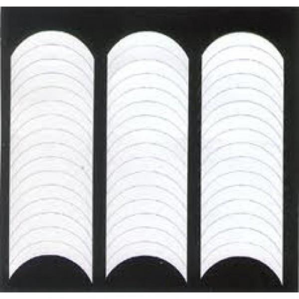 Полоски для французского маникюра 48 шт/ уп. (микс, классические)