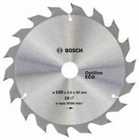 Циркулярный диск Bosch 160x20/16x18 Optiline ECO