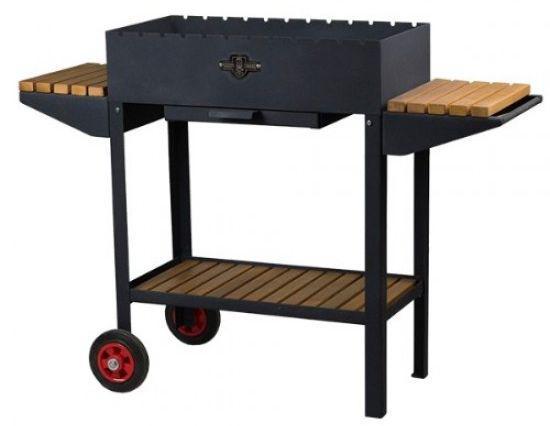Стаціонарний мангал з колесами Daddy Smoke на 12 шампурів