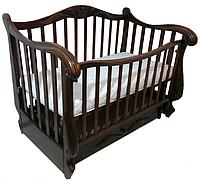 """Детская кроватка """"Цезар"""" на маятнике, с ящиком"""