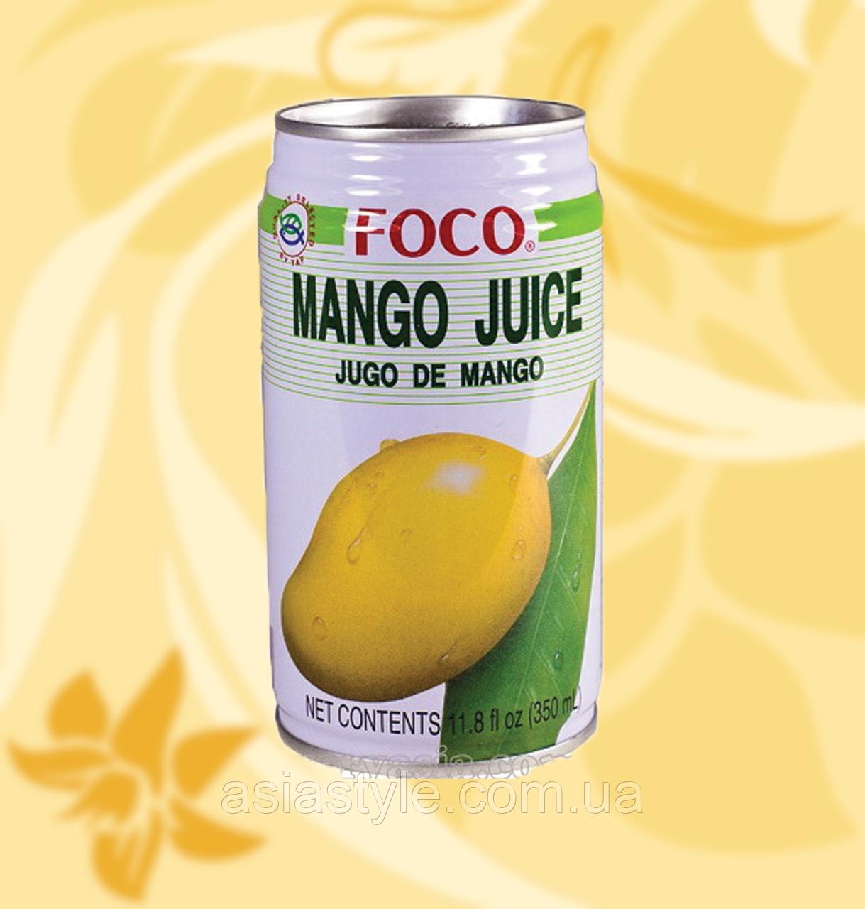 Сік Манго Фоко, Foco, Mango Juice, 350ml, Mo