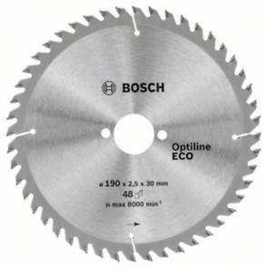 Циркулярный диск Bosch 190x30/48 Optiline ECO