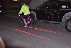 Велосипедный задний фонарь с лазерами лазерная дорожка 5 LED