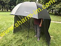 Рибальський-туристичний купольний парасолю з додатковою задньою стінкою