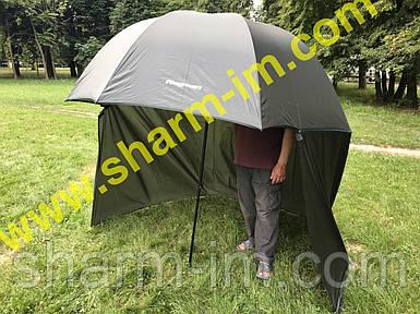 Рыболовный-туристический купольный зонт со сьемной задней стенкой