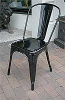 Стул Tolix AC-001А Толикс черный стальной каркас, лофт, дизайн Xavier Pauchard