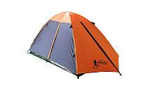 Палатка туристическая трехместная с тентом и коридором Tourist 17103: размер 1,8х(1+2)х1,2м
