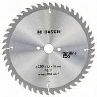 Циркулярный диск Bosch 190x20/16x48 Optiline ECO