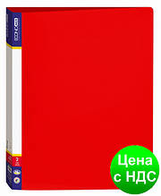 Папка пластиковая А4 Economix на 2 кольца, красная E30701-03
