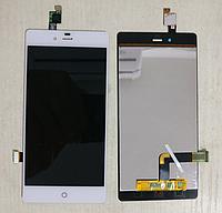 Оригинальный дисплей (модуль) + тачскрин (сенсор) для ZTE Nubia Z9 Mini (белый цвет)