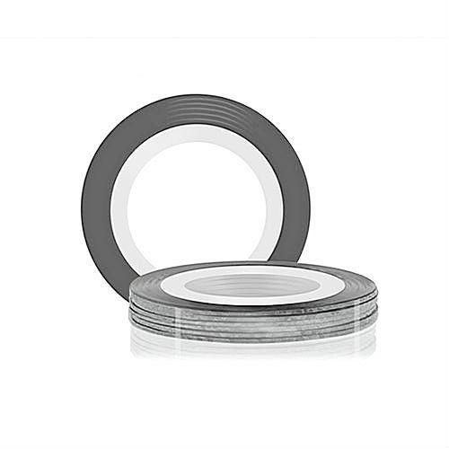 Лента для дизайна ногтей - Серебро голографическое