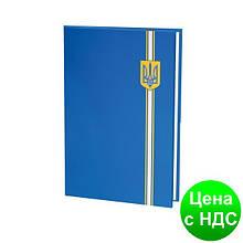Папка для подписи полноцветная, синий  герб E30901-02