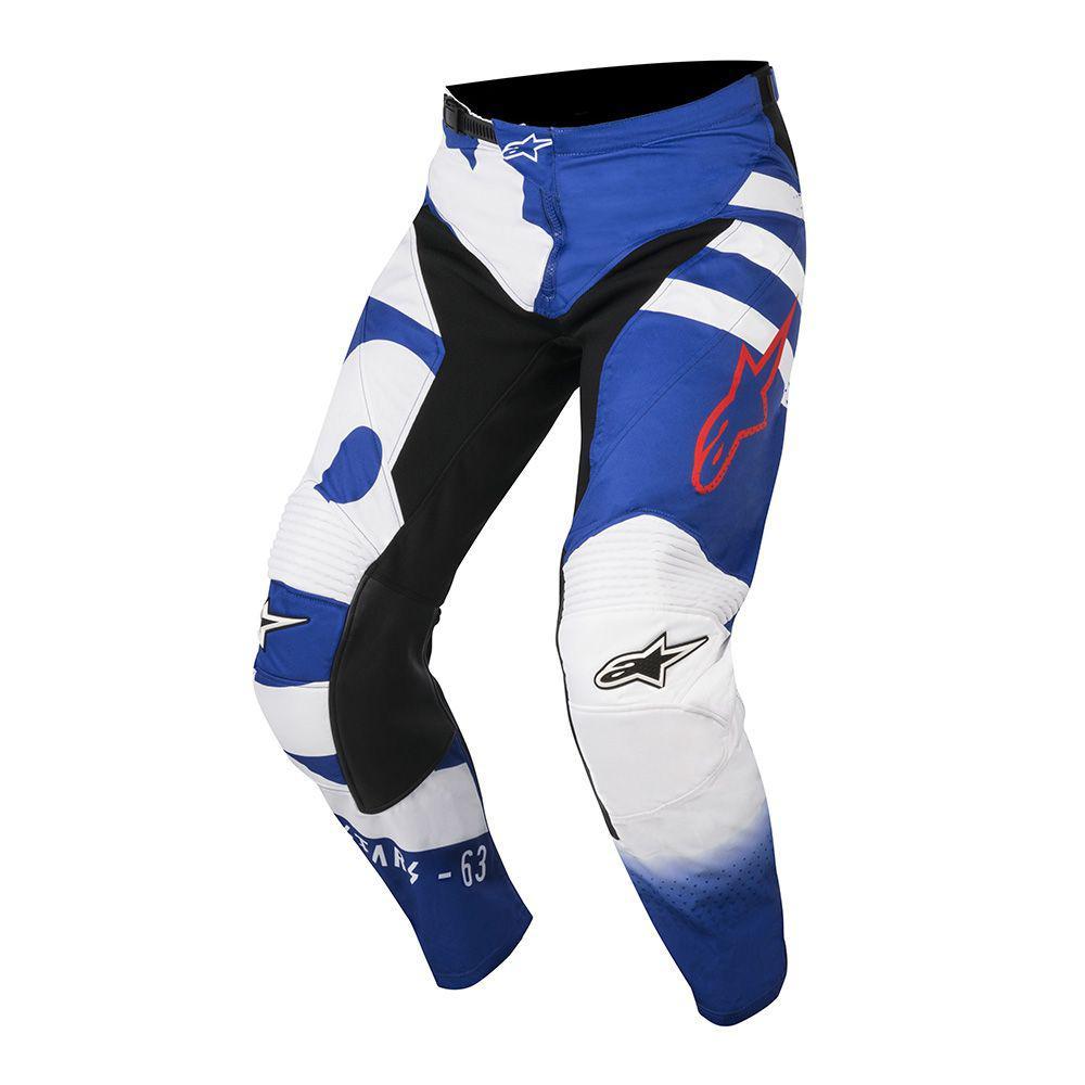 "Брюки Alpinestars Racer Braap текстиль сине-белые ""L""(34)"