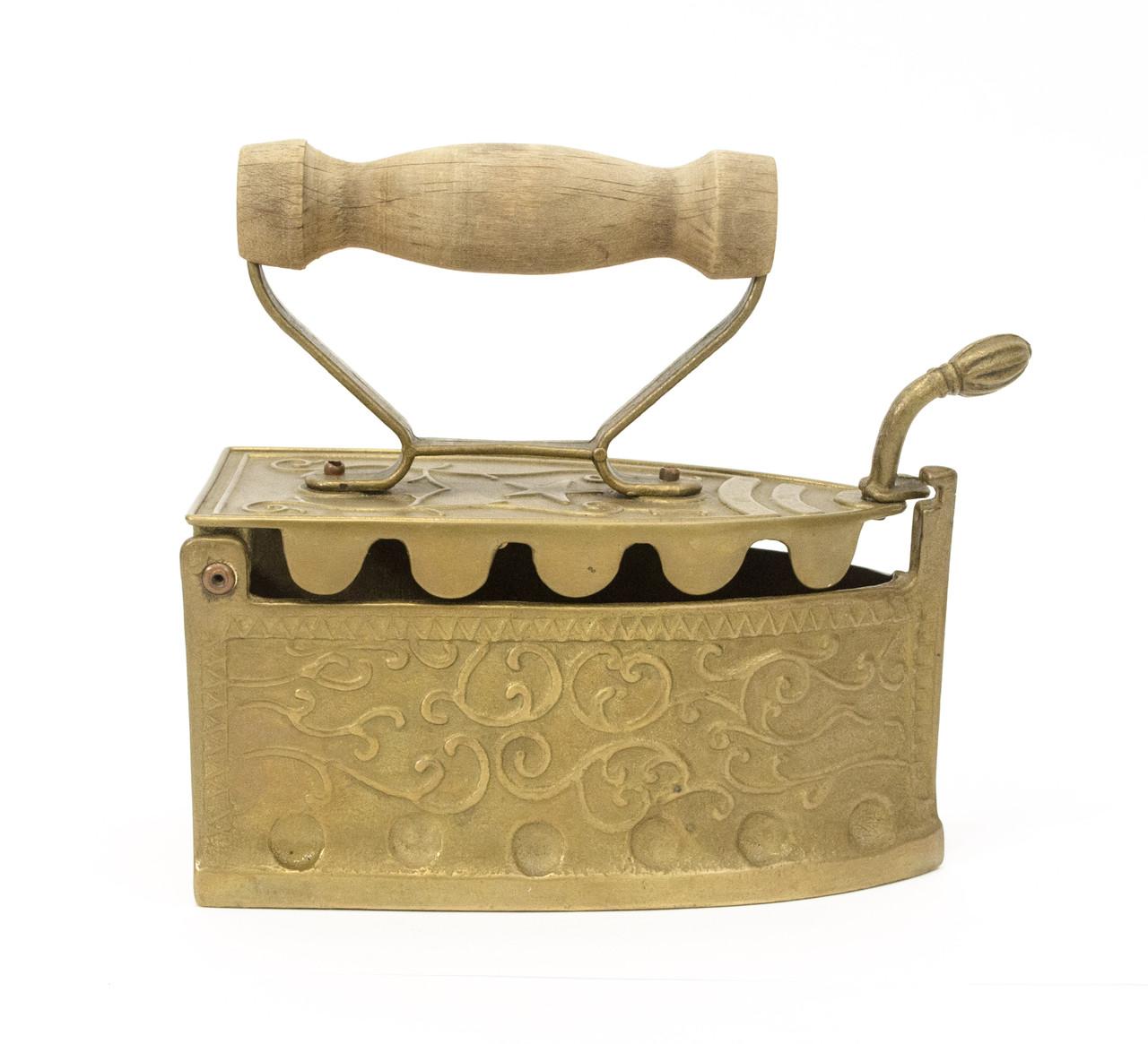 Бронзовый утюжок шкатулка, бронза, Германия, большой