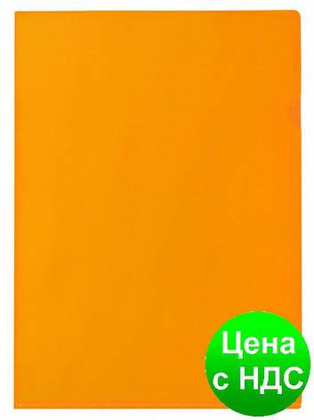 """Папка-уголок А4 Economix, 180 мкм, фактура """"глянець"""", оранжевая E31153-06, фото 2"""