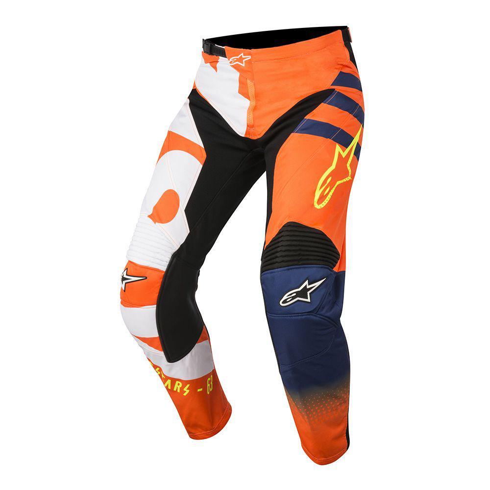 "Брюки Alpinestars Racer Braap текстиль сине-оранжевые ""L""(34)"