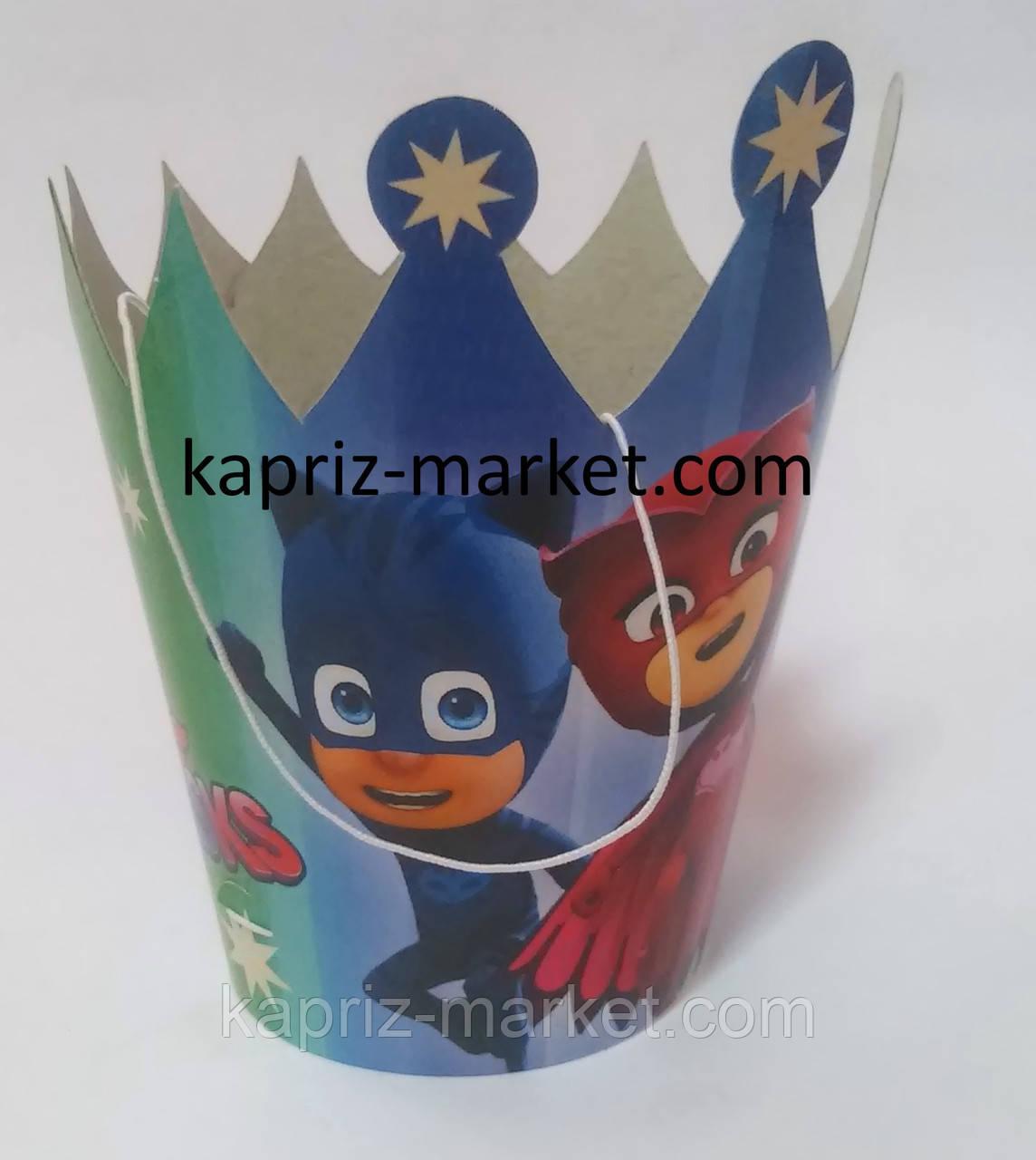 """Ковпак-корона святковий"""" Герої в масках"""""""