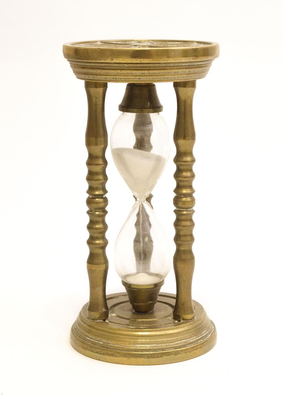 Старые бронзовые песочные часы, бронза, Германия