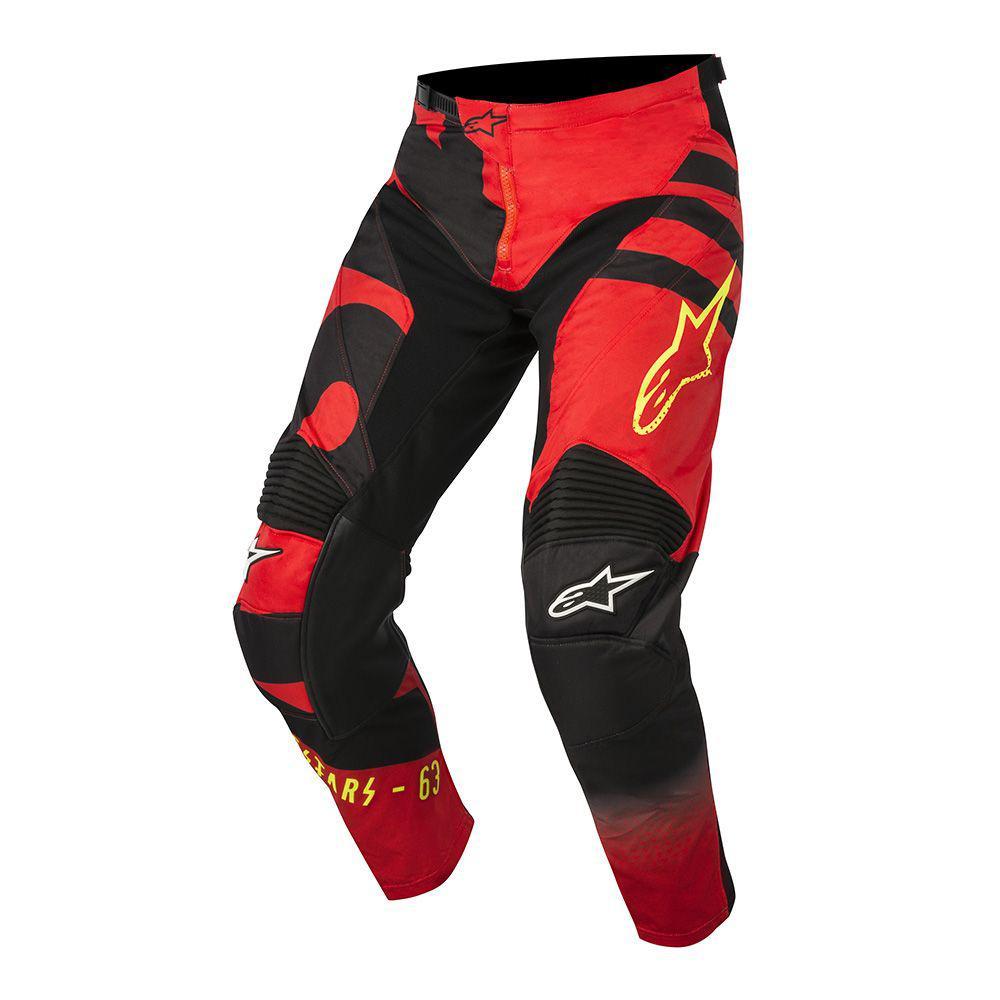 """Брюки Alpinestars Racer Braap текстиль черно-красные """"L""""(34)"""