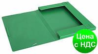 """Папка-бокс пластиковая А4 на резинке Economix, 20 мм, фактура """"діамант"""", зеленая E31401-04"""