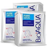 5=6 Набор масок от акне и воспаления Bioaqua Pure Skin Acne Rejuvenation Moisturising Mask, фото 1