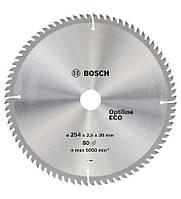 Циркулярный диск Bosch 254x30/80 Optiline ECO