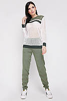 Оливковый вязаный костюм, фото 1
