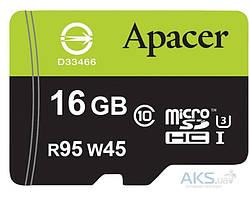 Карта памяти Apacer 16GB microSDHC class10 UHS-I + SD adapter (AP16GMCSH10U3-R)