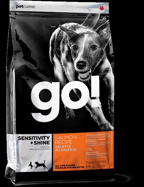 Go! (Гоу) SENSITIVITY + SHINE Salmon - корм для щенков и собак с чувствительным пищеварением (лосось/овсянка)