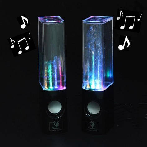 USB колонки танцующий фонтан Water Dancing Black, фото 2