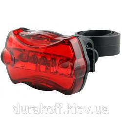 Велосипедный задний фонарь 5 Led 8 функций JY-004