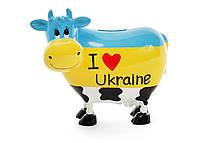 """Копилка коровка """"I love Ukraine"""", 16.5см"""