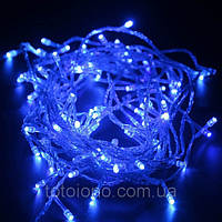 Гирлянда LED неон синяя 200 лампочек - 16 метров
