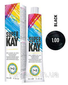 Крем-краска для волос, KayPro Super Kay Hair Color Cream 1.00 черный интенсивный