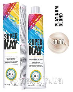 Крем-краска для волос, KayPro Super Kay Hair Color Cream 10.00 платиновый блондин интенсивный