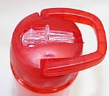 Бутылка пластиковая для напитков, красная, 500 мл, фото 5