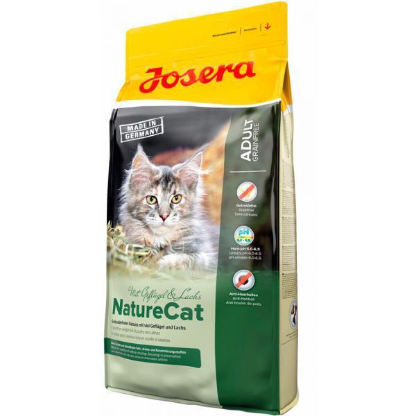 Josera NatureCat Беззерновой корм с домашней птицей и лососем 2 кг
