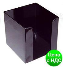 Подставка под бумагу для заметок Economix, 90х90х90 мм, пластик, черная E32601-01